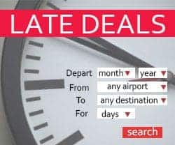 Tui Late Deals Search